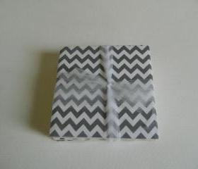 Gray and White Chevron Coasters