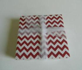 Red and White Chevron Coasters